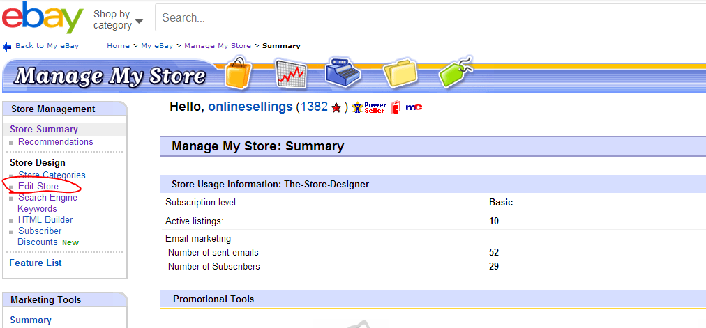 Why Can T I See My New Ebay Store Design 3dsellers Q A